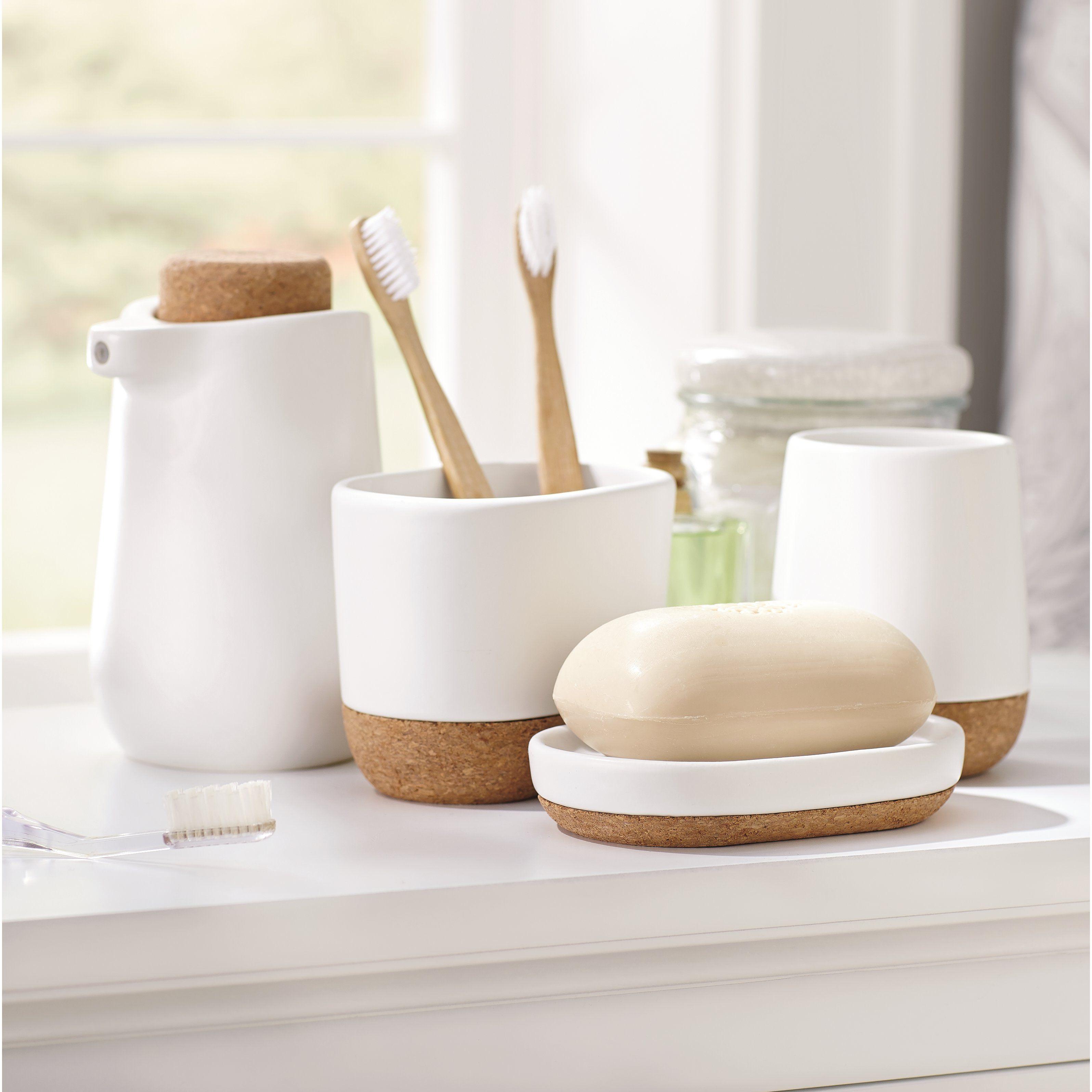 Bathroom accessories cork | ♤Bath accessories set♤ | Pinterest ...