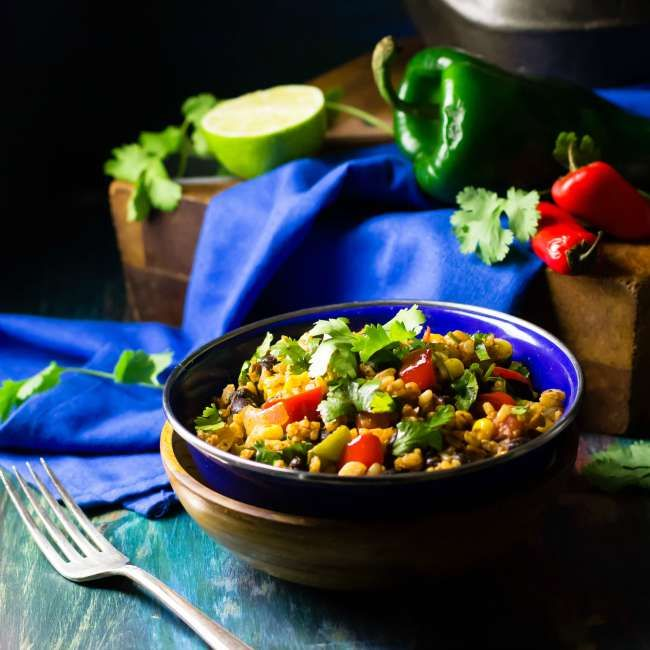 Mexican Fried Rice | #vegan #cleaneating #glutenfree