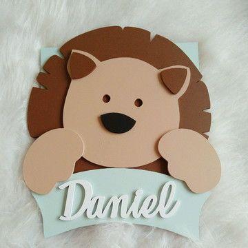Teddy bear ornament for maternity door at Elo7 | Amás Des …