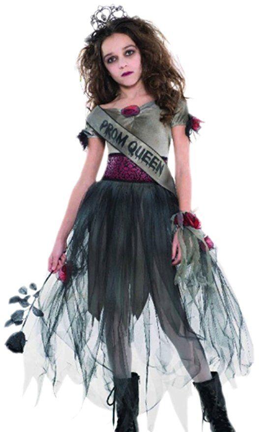 Erdbeerloft Madchen Zombie Kostum Prombie Queen Halloween 5 Teilig 14 16 Jahre Grau Halloween Kostume Kinder Halloween Kostum Zombie Kostum