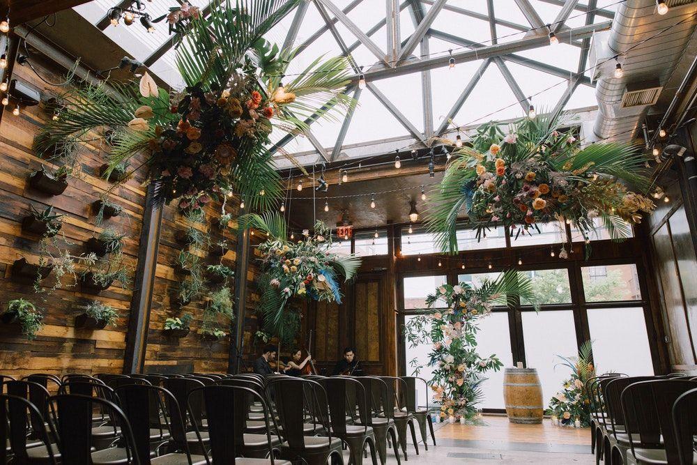 Fresh, Tropical Wedding at Brooklyn in 2020 New york