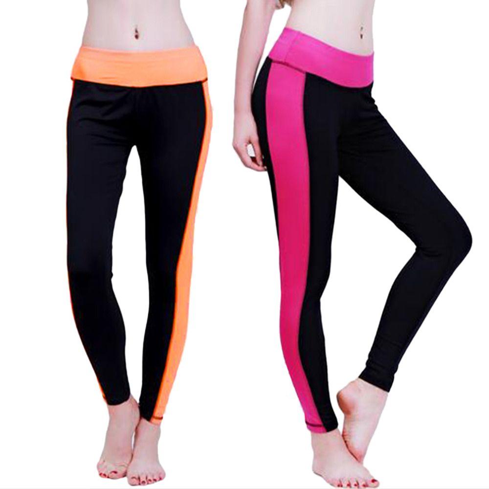 f9c991b378976 Hot Patchwork Color Patchwork Sports M/L/XL/XXL Slim Workout Fitness  Elastic Stretch Gym Women Punk Yoga Pants Hot