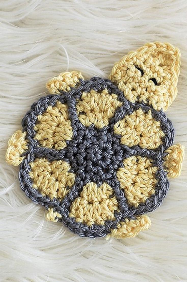 Free Pattern] Absolutely Adorable Turtle Crochet Coaster Pattern ...