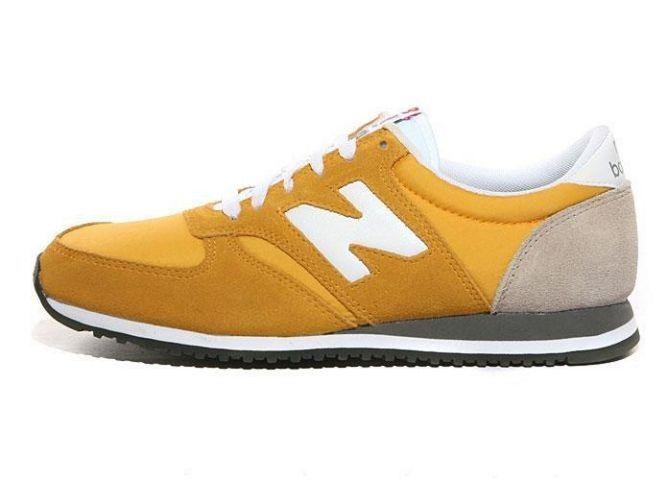 CN0K New Balance (NB) 420 Suede Geel Wit Grijs Schoenen Heren.