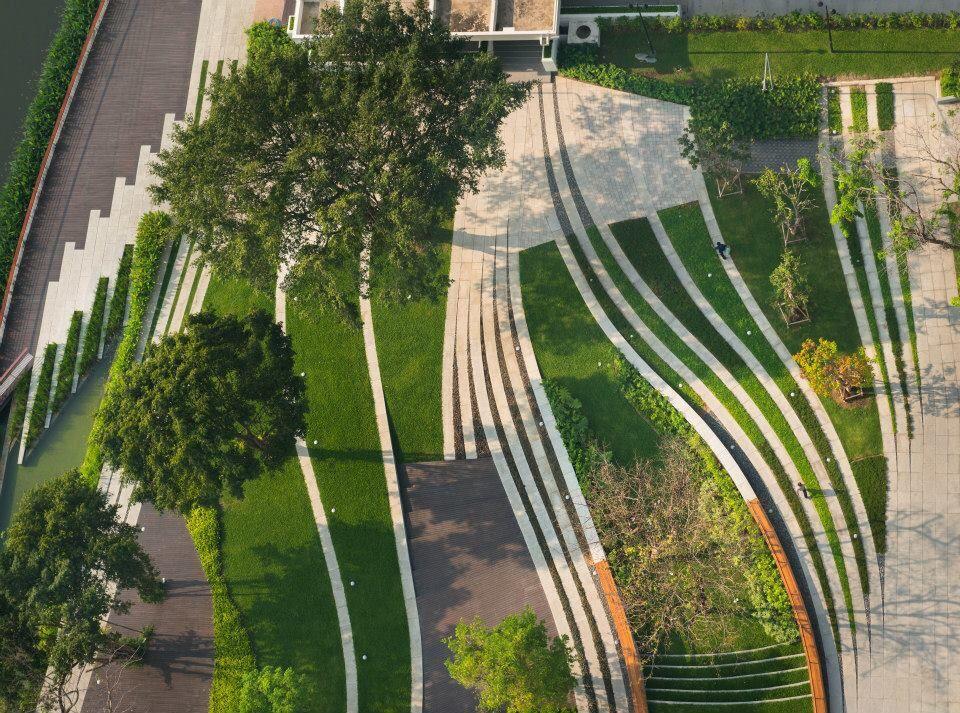 Landscape design for SCG Headquarter, bangkok, Thailand design by LAB (landscape architects of bangkok) is part of Urban landscape -