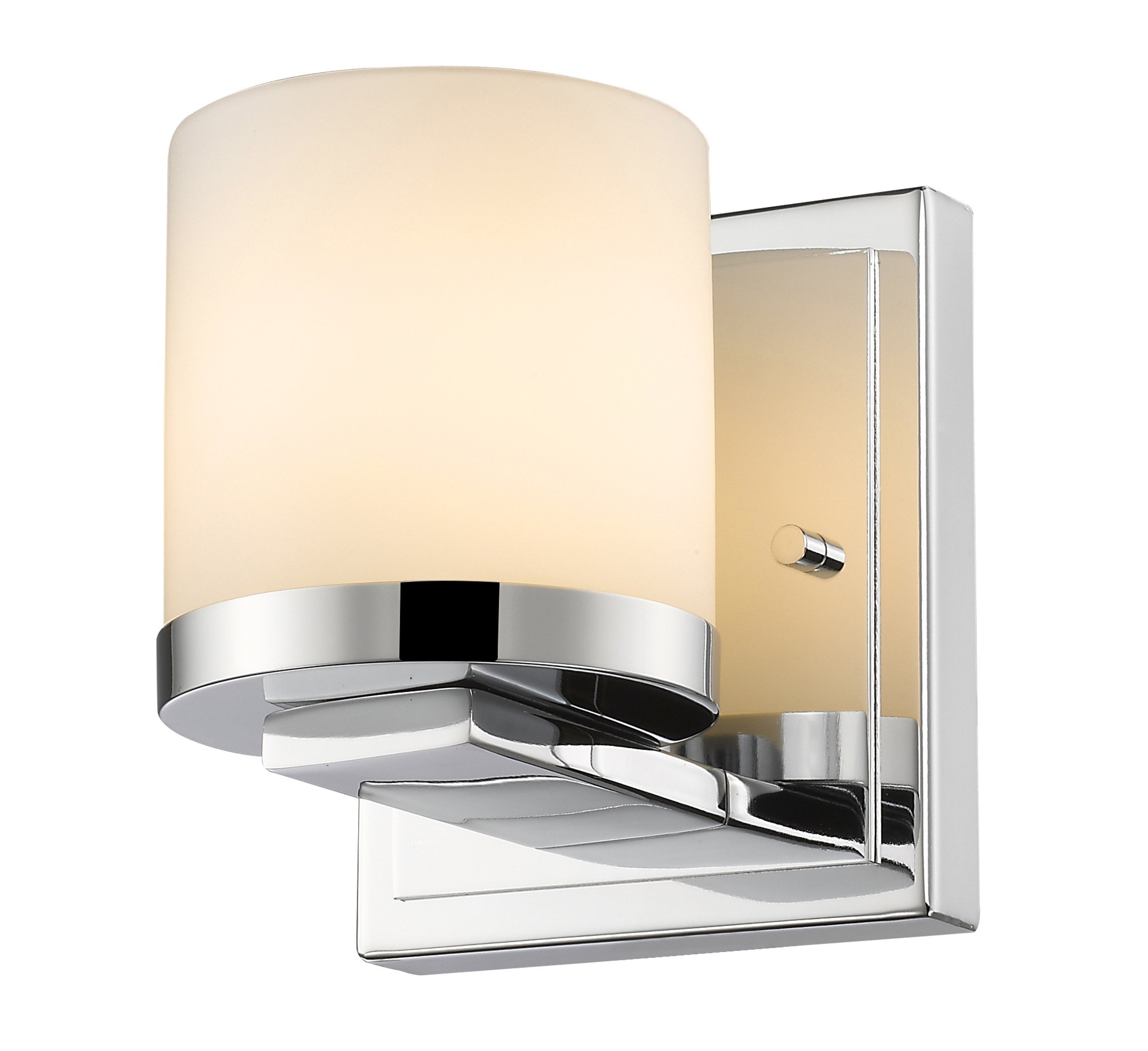 Z-Lite 1912-1S-CH-LED Nori Collection Chrome Finish 1 Light Wall Sconce