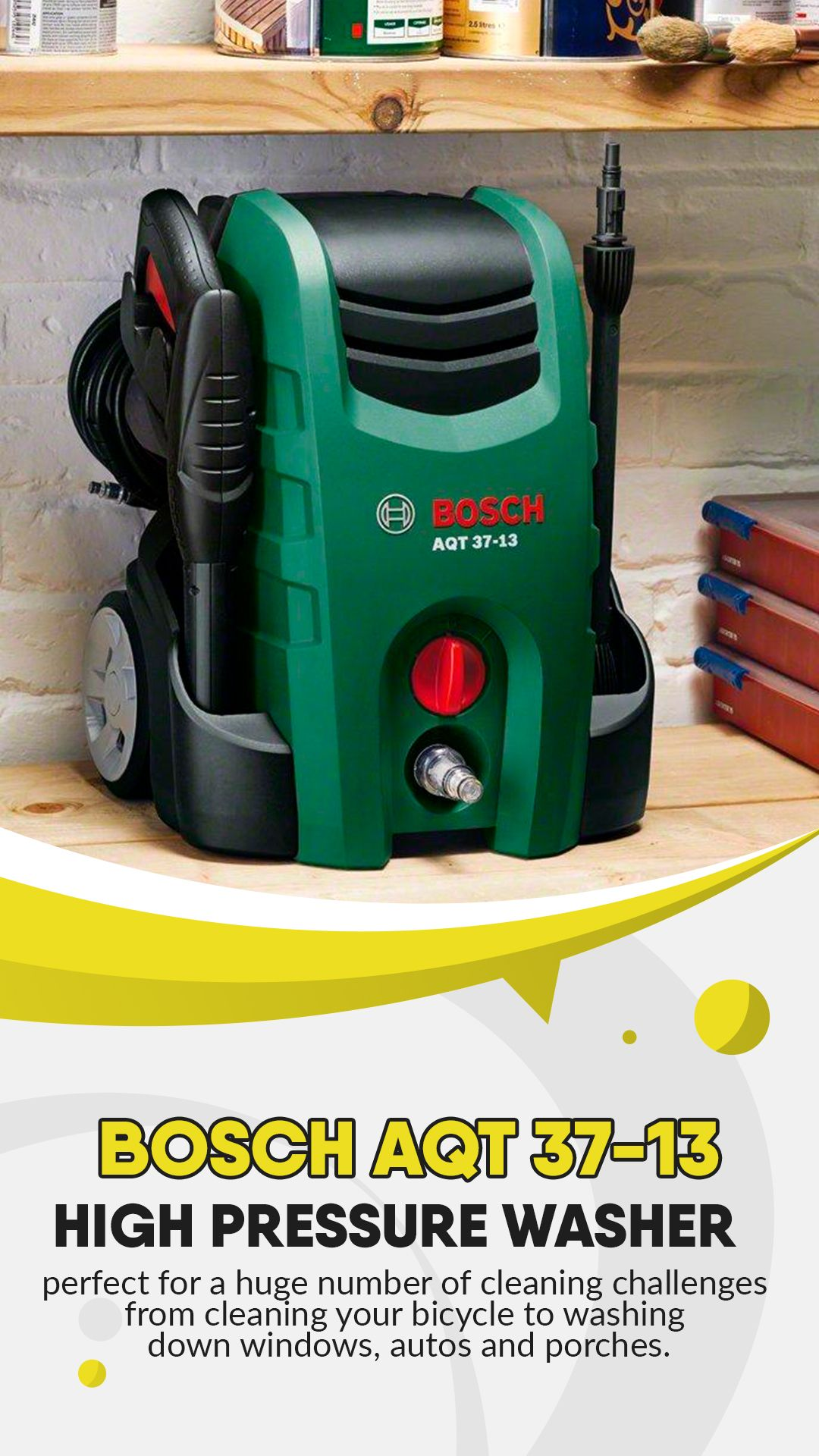 Bosch Aqt 37 13 High Pressure Washer The Total Cleaning Solution For Windows Bikes And Cars Review In 2020 Best Pressure Washer Pressure Washer Washer