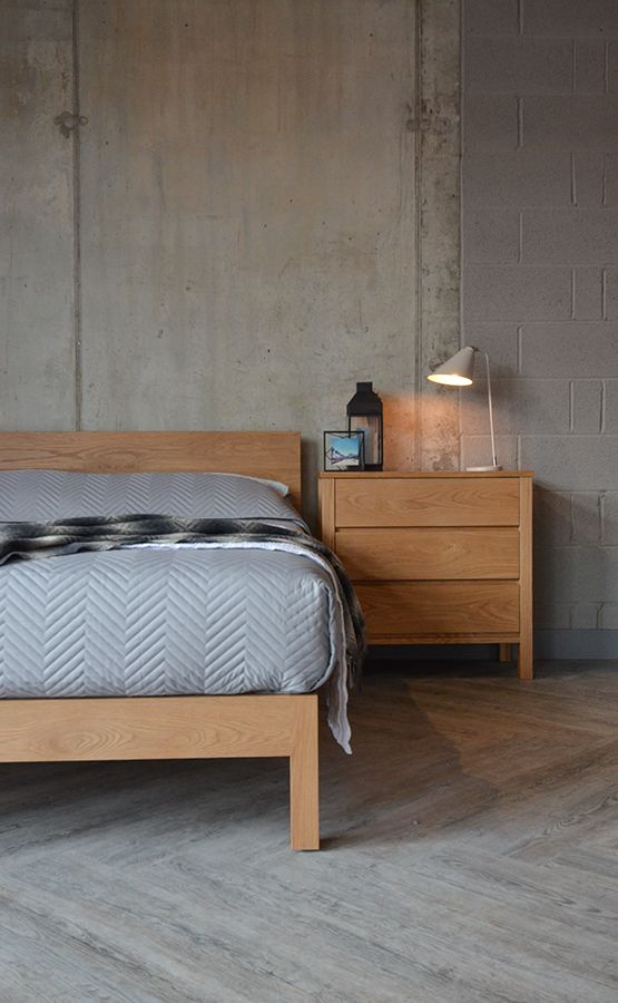 Oak Bedroom Furniture With Contemporary Bedding All From Natural Bed Company