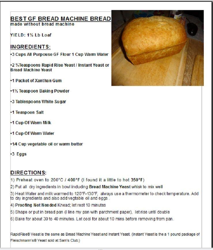 Easy Gluten Free Bread Recipe Gluten Free Bread Recipe Easy Gluten Free Recipes Bread Easy Gluten Free
