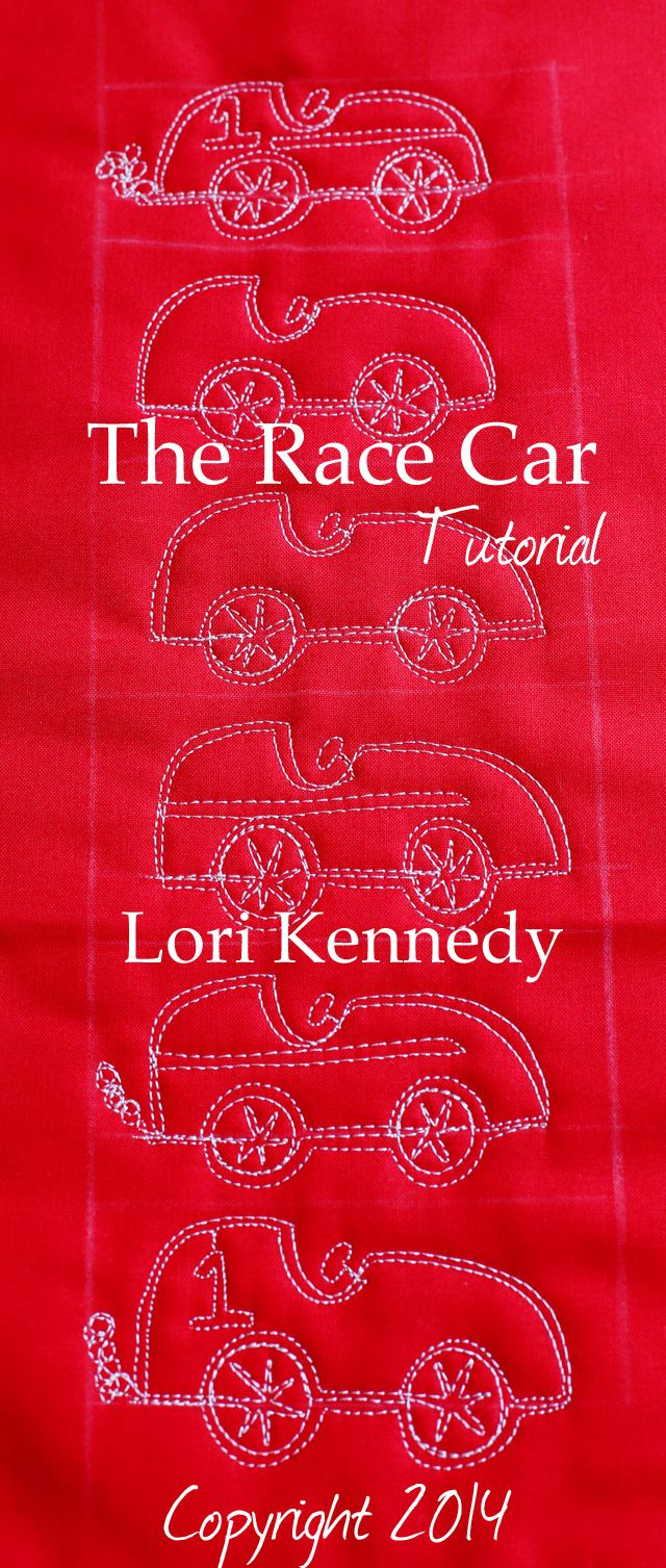 The Race Car-A Free Motion Quilt Tutorial FREE today! Lori Kennedy @ The Inbox Jaunt