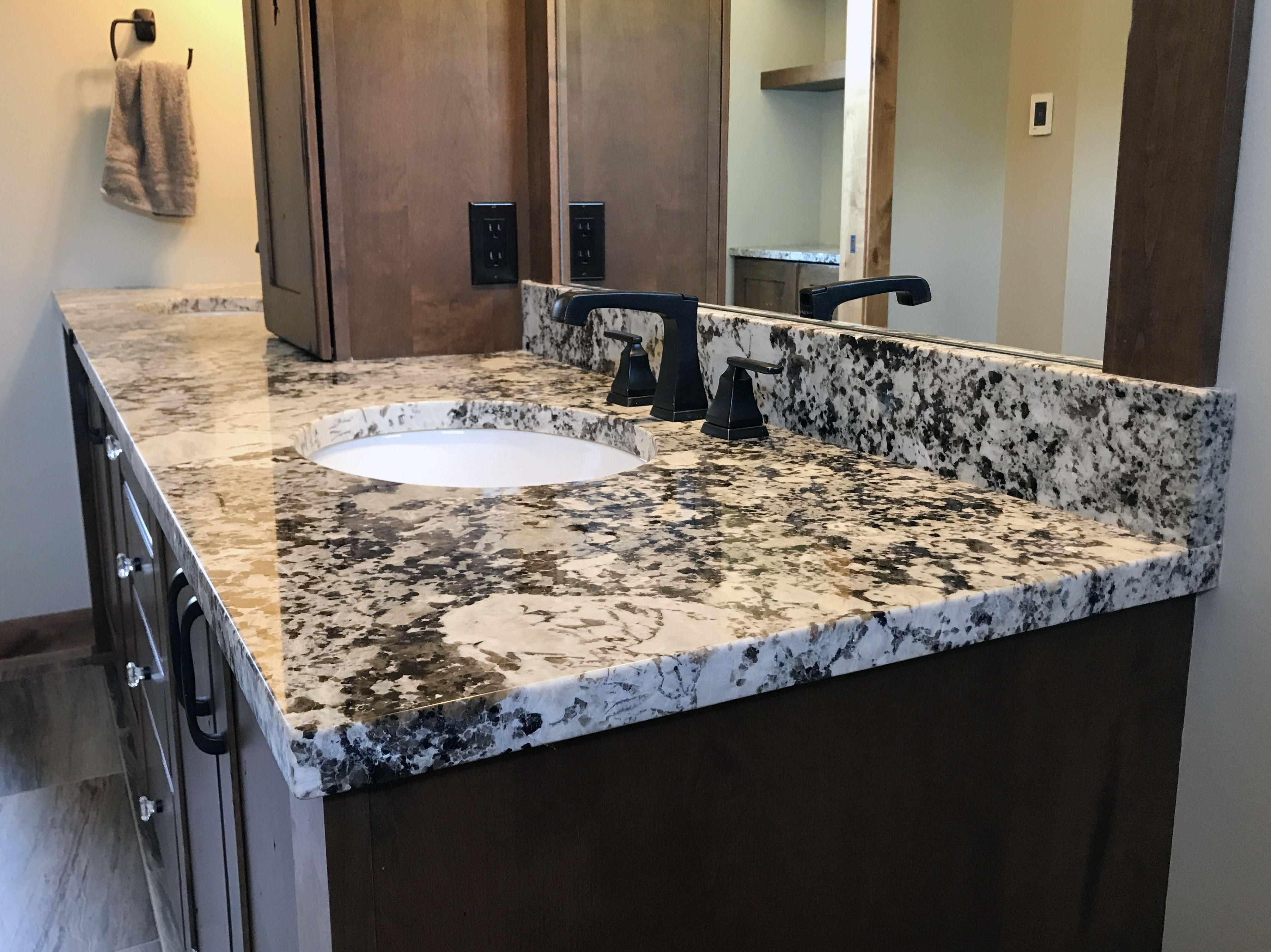 Alaska White Granite Master Bath Vanity