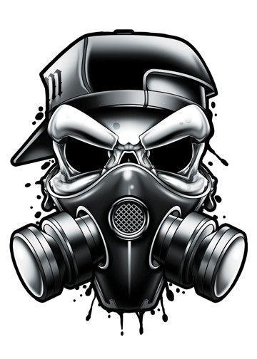 Black And Grey Gas Mask Temporary Tattoo Desenho Caveira Mascara De Gas Mascaras De Gas