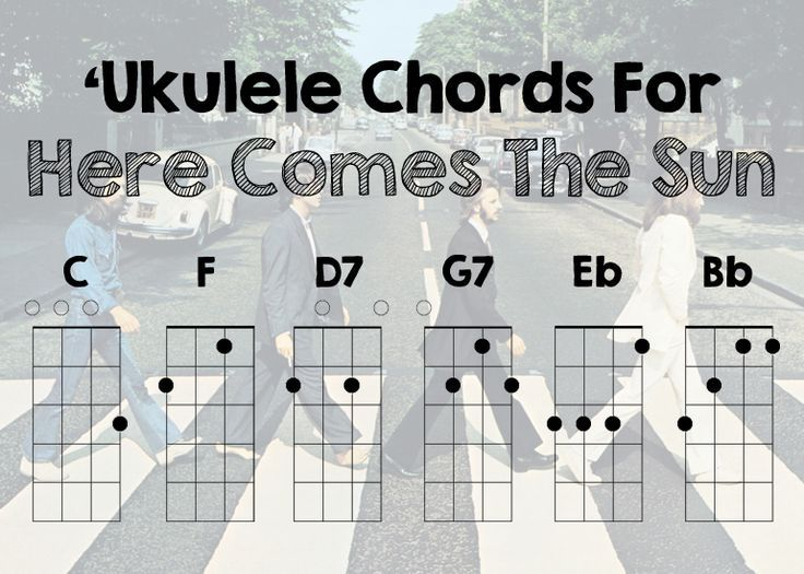 Ukulele Chords For Here Comes The Sun By The Beatles Guitar Tabs