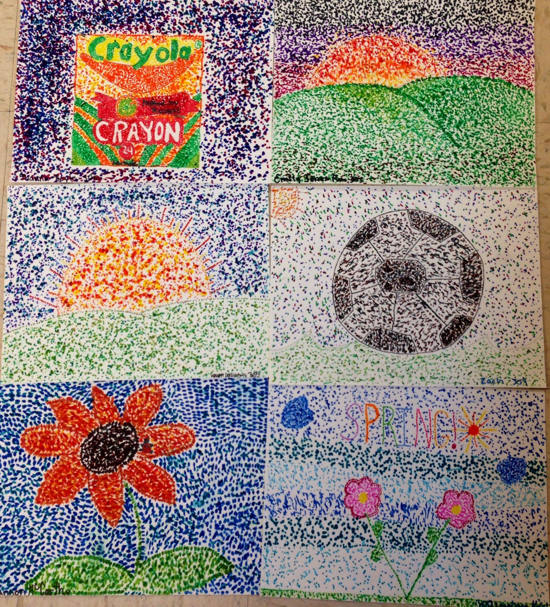 5th Grade Pointillism