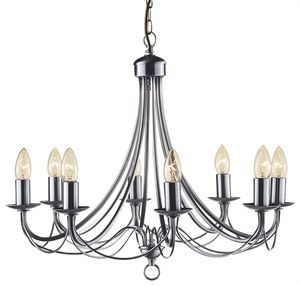 Picture Of Maypole 8 Light Candelabra Pendant R6348 8p
