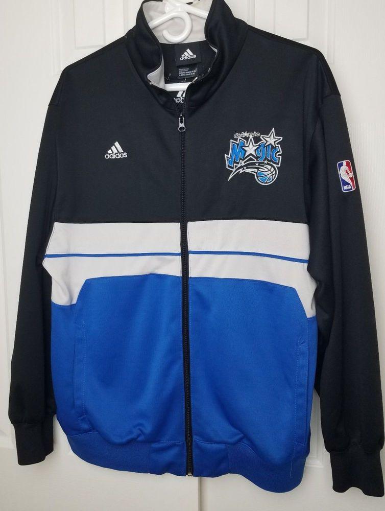 bc0890dace8f Vintage Adidas Orlando Magic NBA Warmup Jersey Jacket Sz XL (18-20 ...