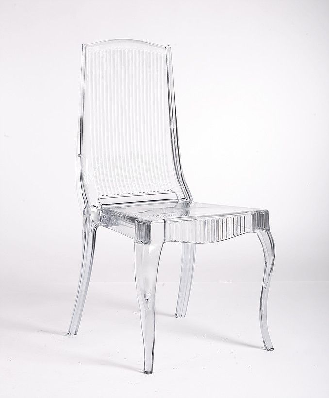 Global Event Supply, Clear Acrylic Queen Anne Chair