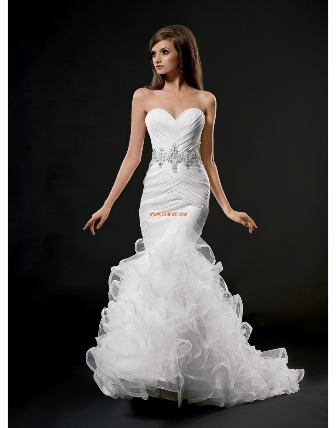 Organza Printemps Zip Robes de mariée Designer