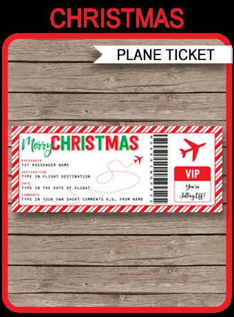 Christmas Gift Plane Ticket Surprise Flight Trip Getaway