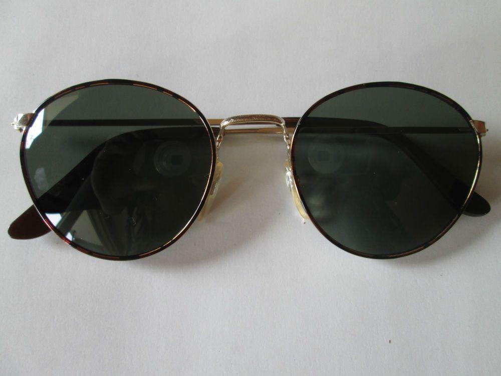 Retro Sonnenbrille Rand Rotlich Gescheckt 80er 90er Brille Vintage