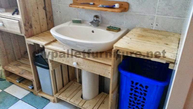 Mueblesdepaletsnet Muebles para el baño realizados íntegramente
