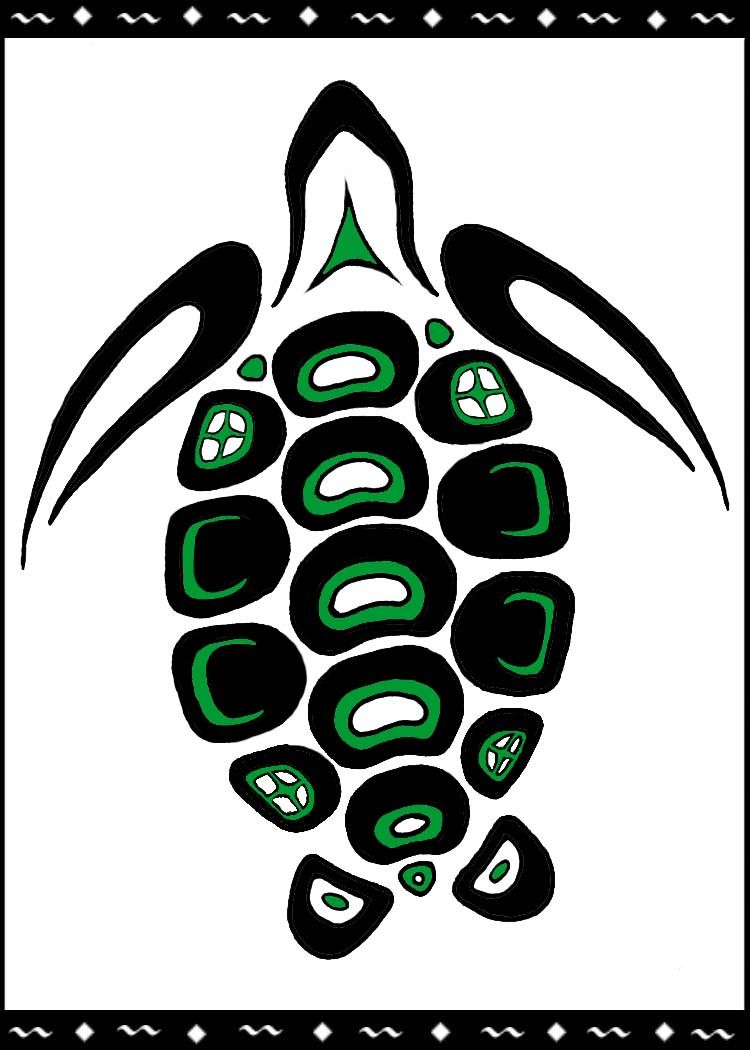 Green Sea Turtle When You Pinterest Native Art Art And Turtle