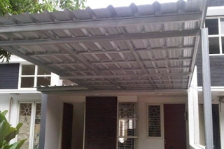 Kontraktor Yogyakarta Pemasangan Kanopi Baja Ringan Atap Galvalum Span Kanopi Atap Balkon
