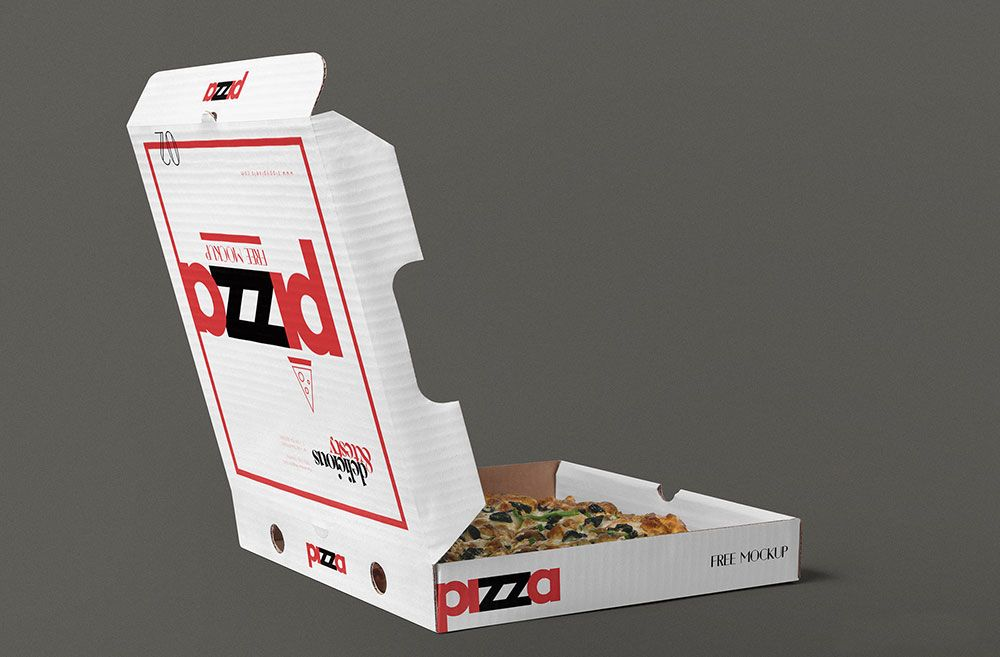 Download Vector Pizza Box Mockup Yellowimages