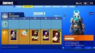 New Season 5 Battle Pass Tier 100 Skin Unlocked Fortnite Season 5