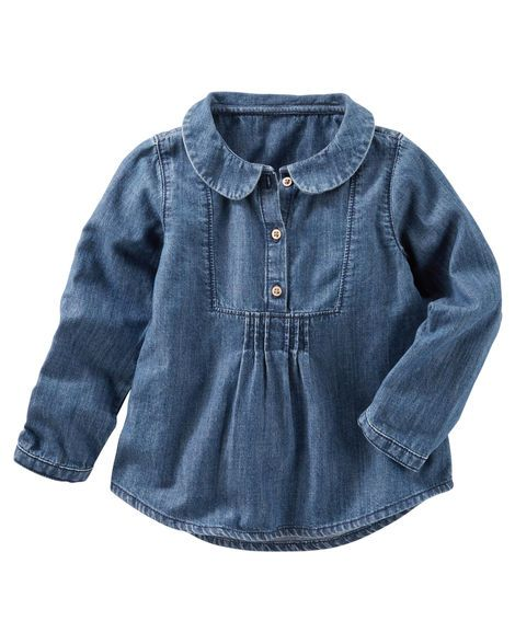 Baby Girl Denim Top from OshKosh B'gosh. Shop clothing & accessories from a…