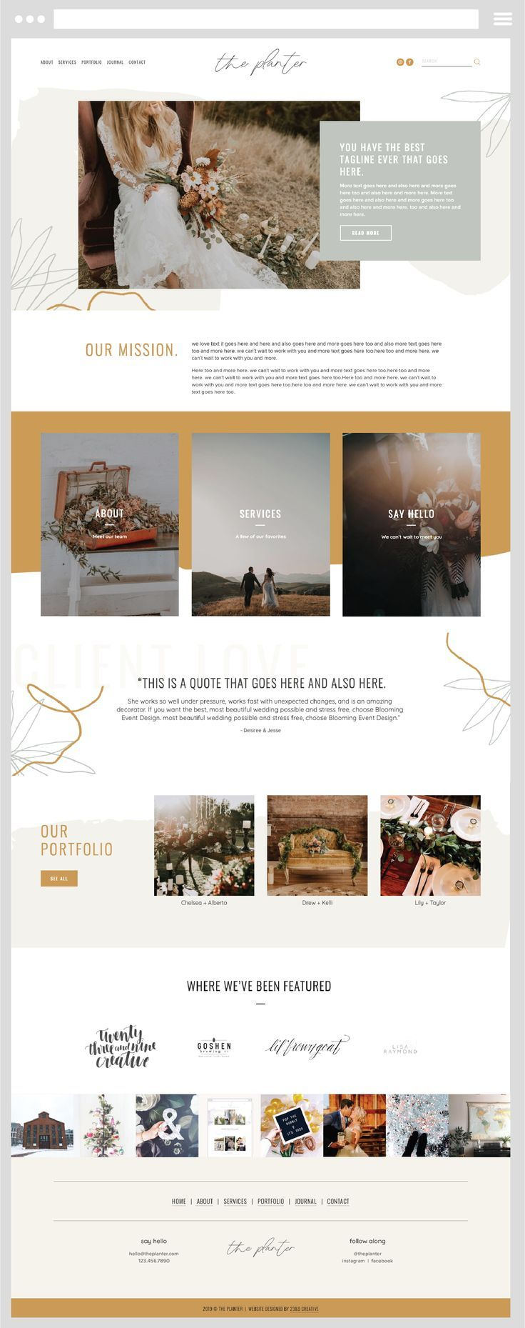 Unearth Squarespace Template is a modern and artistic website template that is p…