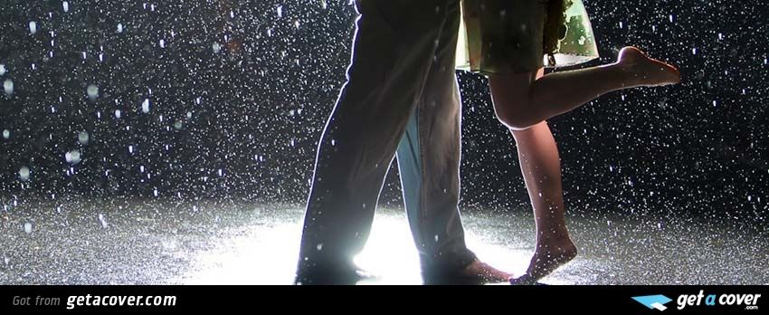 An awesome Couple in rain facebook cover for your FB