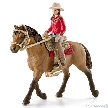 Jouets Farm Life Cavaliere Western 42112 Rodeo Toys Horses Western Horse
