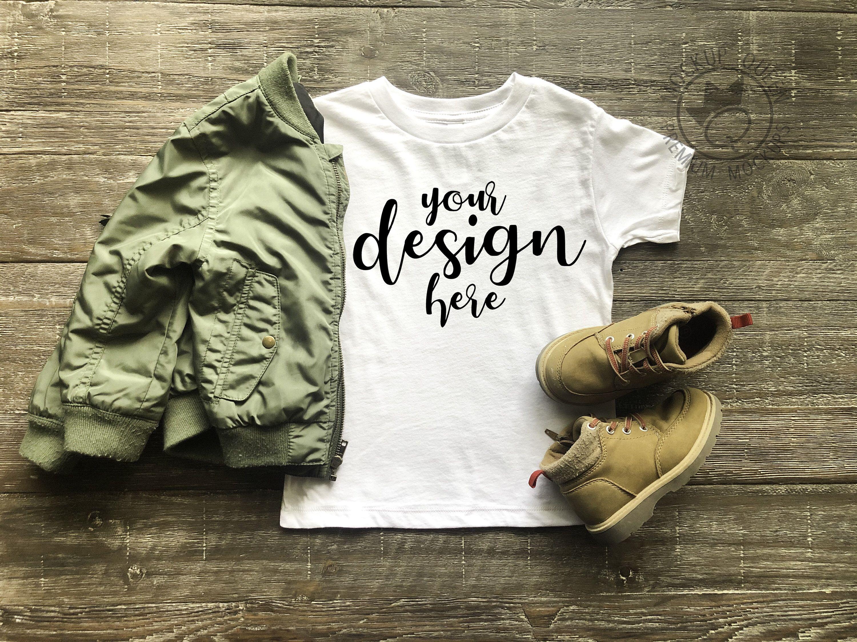 Children's White T Shirt Mockup // DIGITAL DOWNLOAD