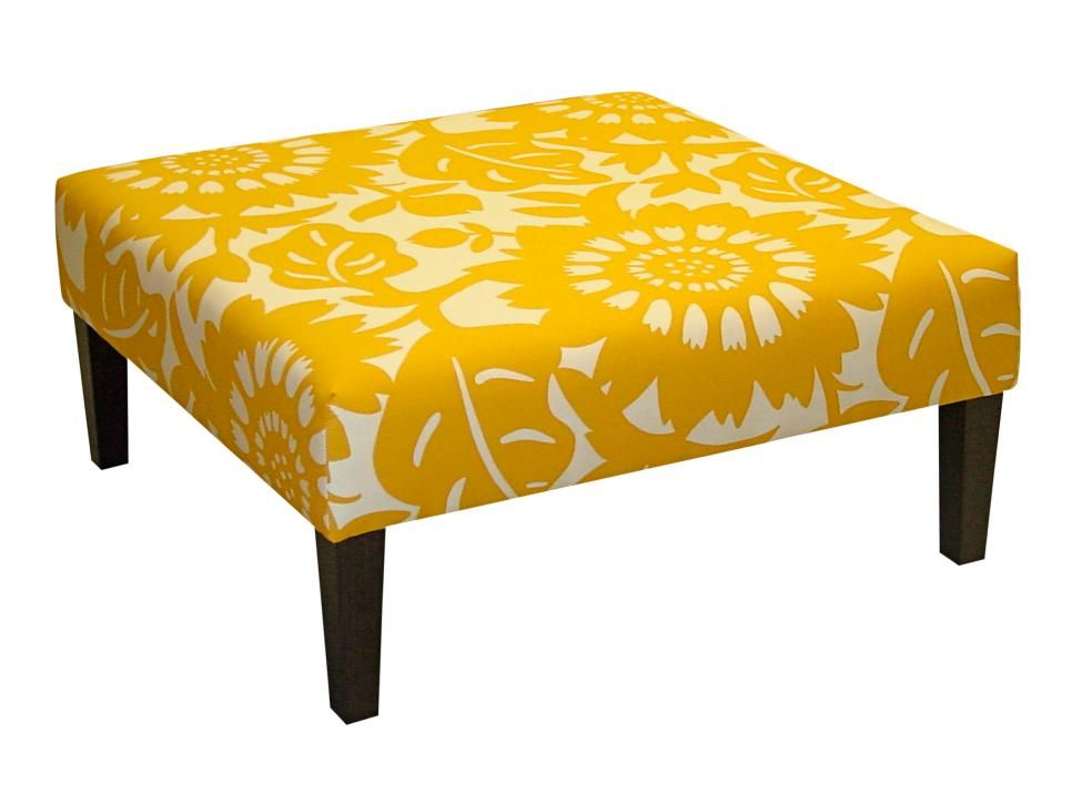 You can snag a similar look with Skyline Furniture's ottoman, $279 from lowes.com. It's the perfect kick-up-your-feet height.