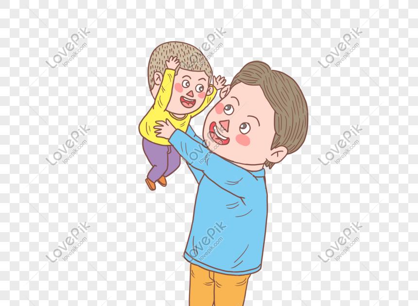 28 Gambar Kartun Ayah Dan Anak Laki Laki Di 2020 Kartun Hari Ayah Gambar