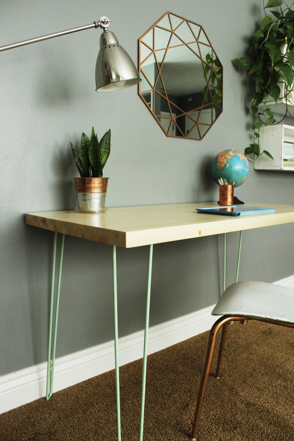 Diy Desk With Hairpin Legs Our All Time Favorite Diy Desk Ideas Summarized Diy