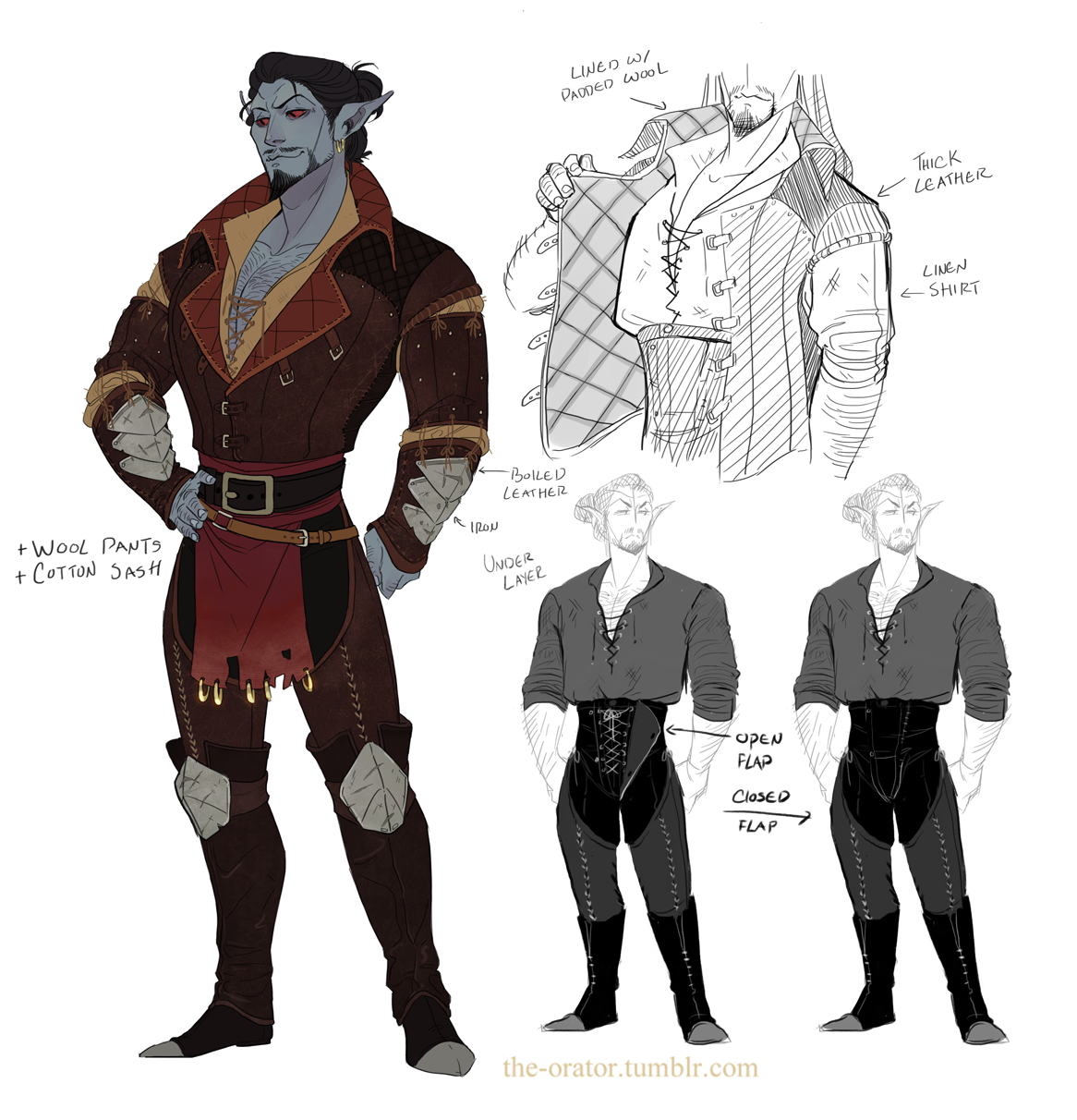 """Character Design Dress Up : The orator """" janearts let me dress up bodran and now i m"""