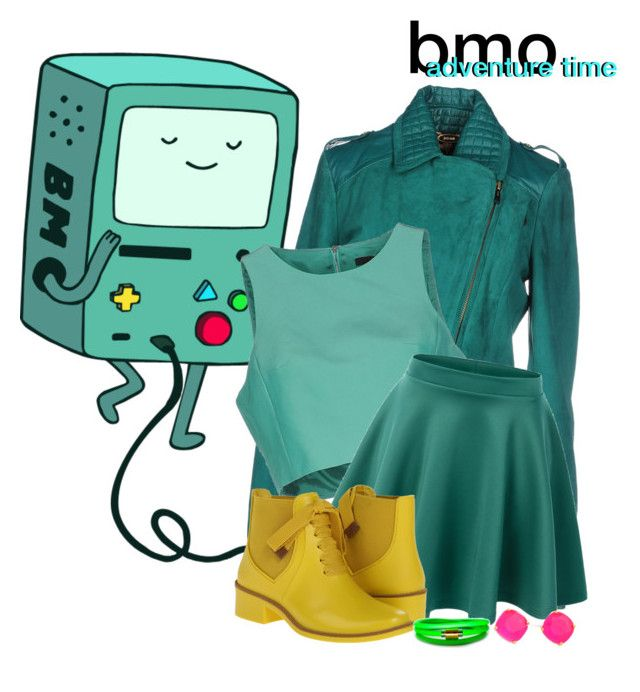 """""""bmo from Adventure Time"""" by dead-love ❤ liked on Polyvore featuring Just Cavalli, TIBI, LE3NO, Bernardo, Kate Spade and Liza Schwartz"""