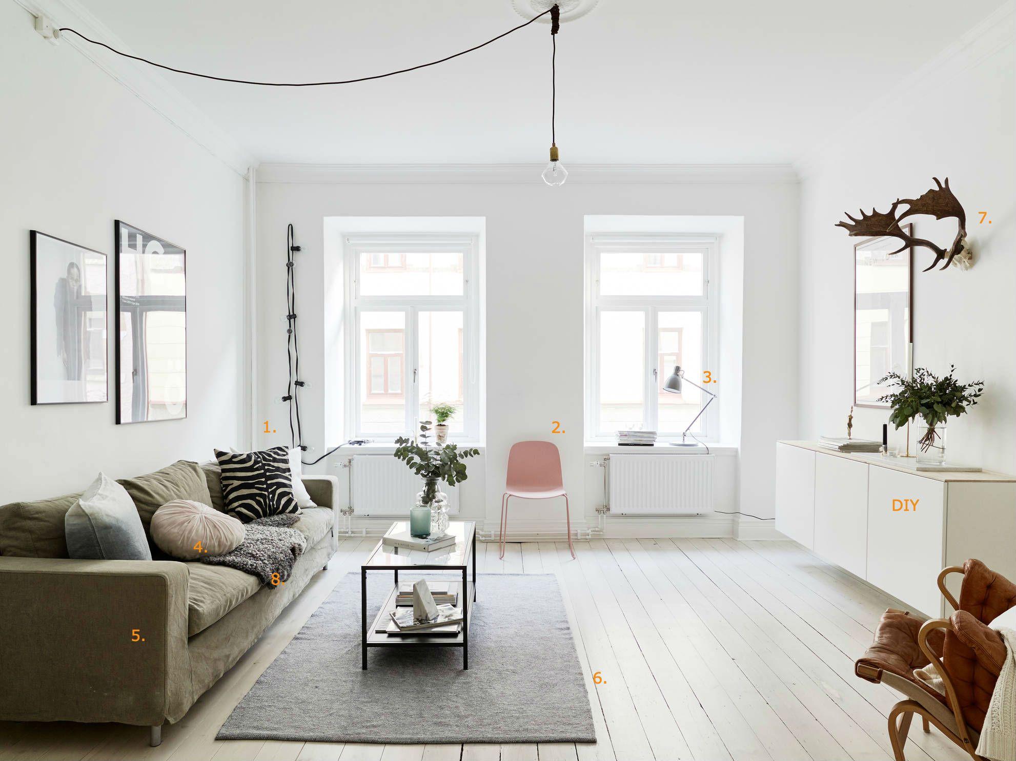 shop the look scandinavische woonkamer roomed roomednl wohngemeinschafteinrichtungkleiner lebensraumwohnrumemoderne wohnzimmerhelle - Modernes Wohnzimmer Des Innenarchitekturlebensraums