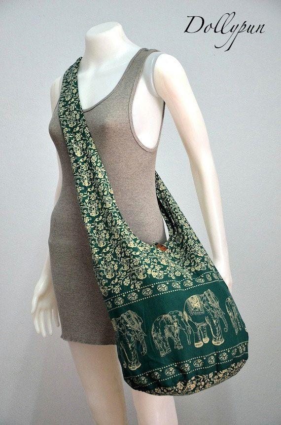 Elephant Bag Hippie Hobo Bag Sling Crossbody Bag Boho Bag Shoulder ...