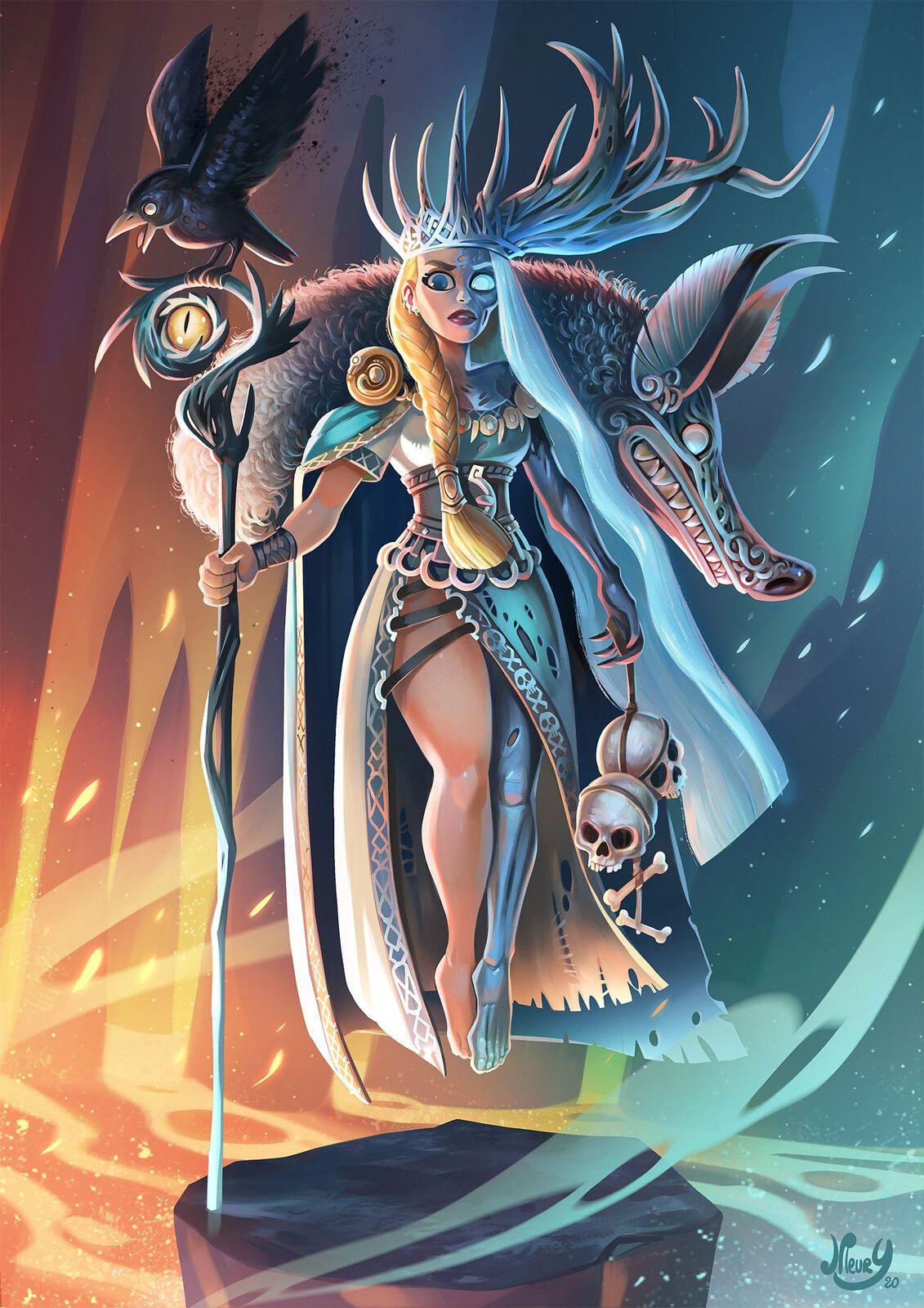Hel, goddess of death, Jeremie Fleury on ArtStation at