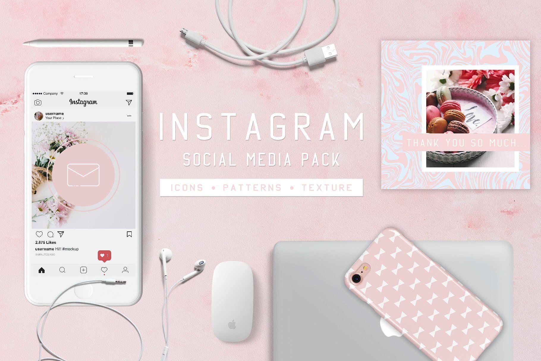 Instagram Pack Social media pack, Instagram, Social