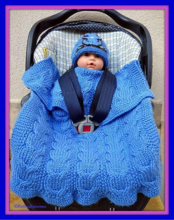 Car Seat Blanket Knitting Pattern : Owly Reversible Stroller or Car Seat Blanket - Knitting Pattern PDF Download....