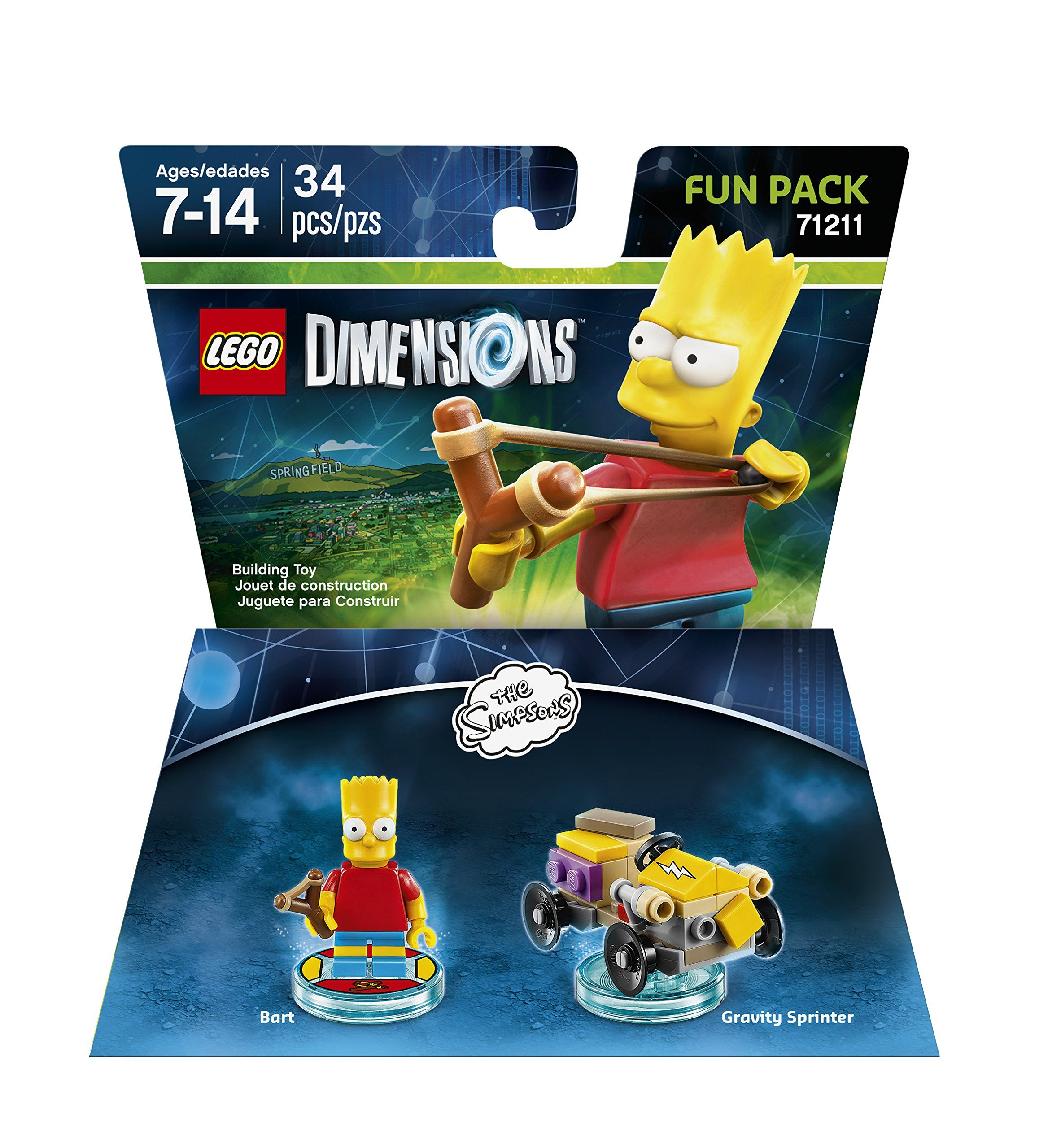 71211 Bart Simpson Lego Dimensions-Krusty Fun Pack 71227
