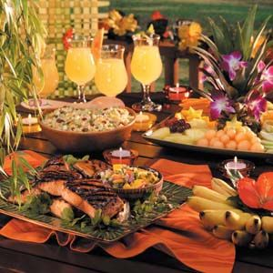 Backyard Party Menu Ideas follow this easy four step process for Caribbean Party