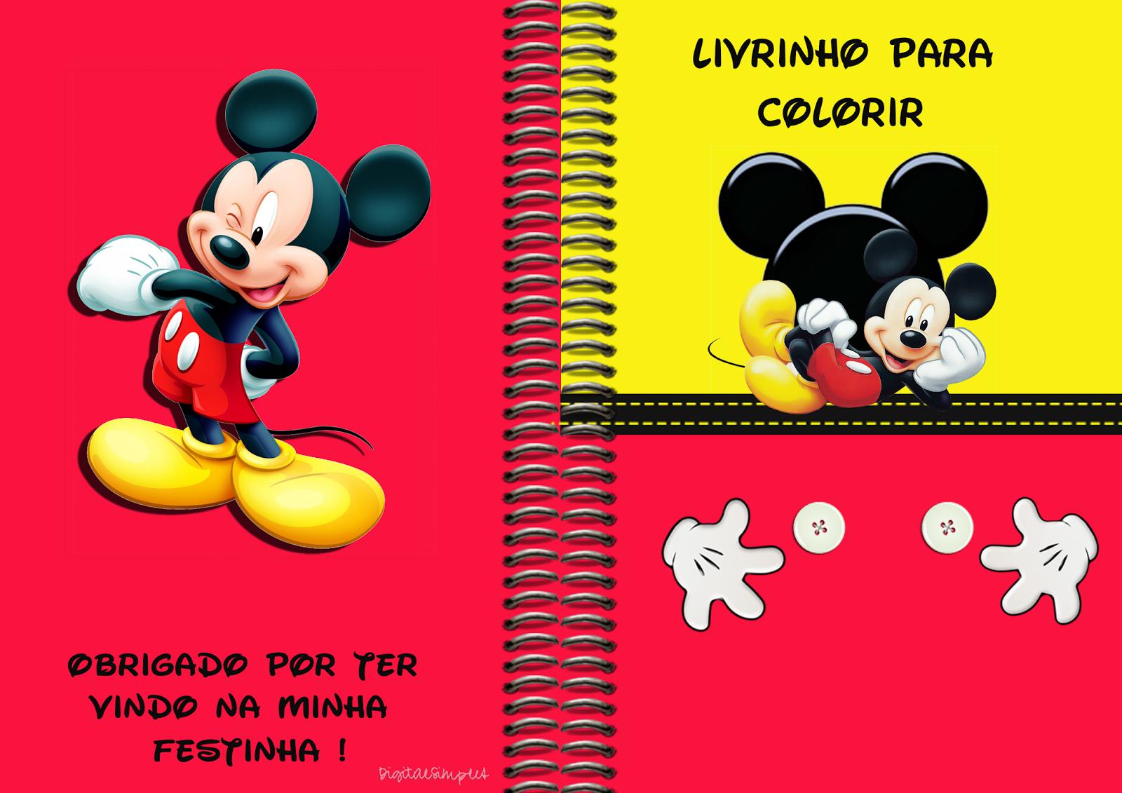 Livro Para Colorir 300 Mickey Png 1600 1131 Mickey Party Tudo