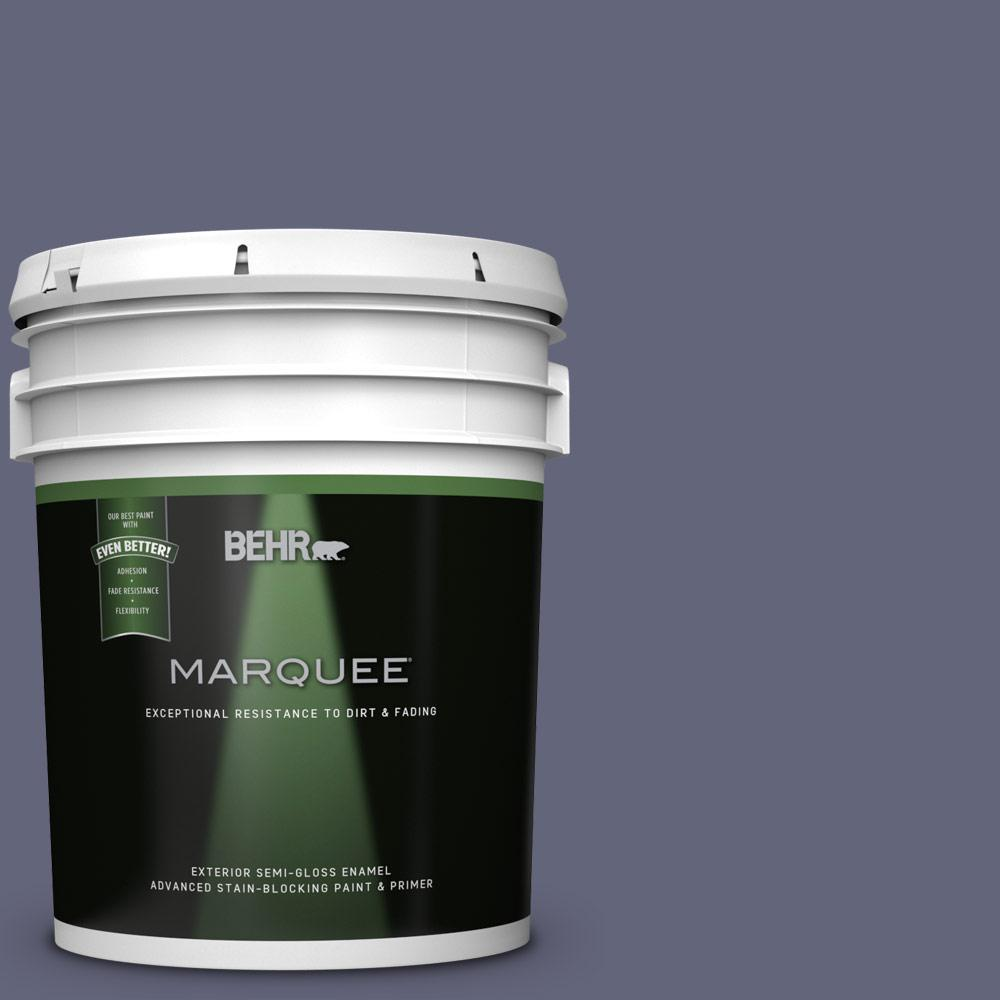 Behr Marquee 5 Gal 630f 6 Violet Evening Semi Gloss Enamel Exterior Paint And Primer In One Behr Marquee Exterior Paint Behr Marquee Paint