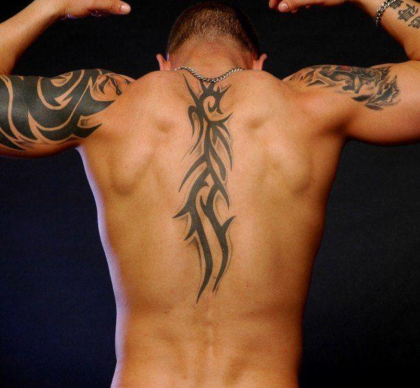 Tribal Small Back Tattoos For Men