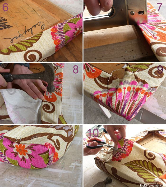 How to Reupholster a Chair Seat | Reupholster Chair | Diy ...